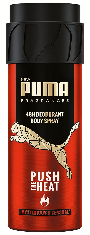 Puma 48h Deodorant Body Spray Push The Heat Pack of 6 x 150 ml ...