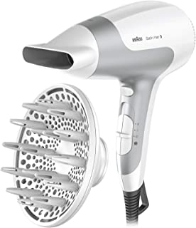 Braun HD585 Satin Hair 5 Ionic Power Perfection Dryer, White/Grey, 2500 Watts