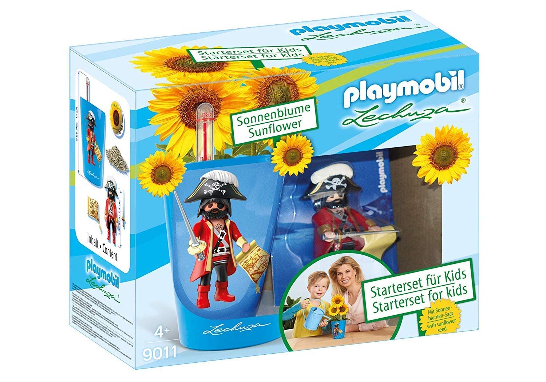 Playmobil Starter Set para Kids Azul, Maceta y playmobilfigur: Amazon.es: Jardín