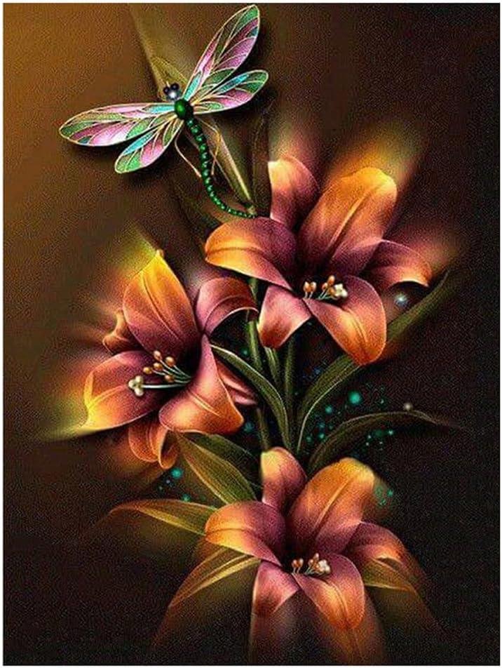 2021 model Whitelotous Dragonfly Flower 5D DIY Kits Painting Partia Diamond At the price of surprise