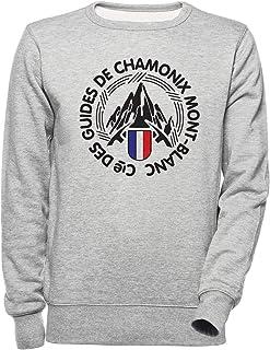 Luxogo Chamonix Unisexo Gris Sudadera Hombre Mujer Unisex Grey Jumper Men's Women's