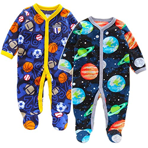 ddba84d49c Newborn Boy Fleece Sleepers  Amazon.com
