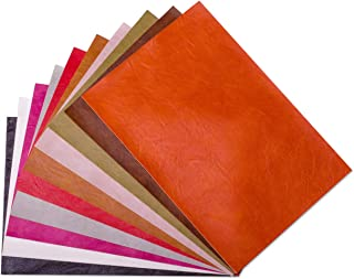 Meneng Super Soft Synthetic Leather Sheets Vintage Pattern Sofa Faux Leather Fabric for Backpack Making Furniture Repair 10 Colors(9''x 13'')