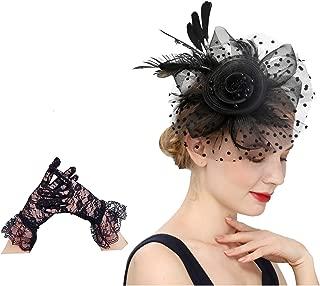 Cizoe Fascinators Hat for Women Flower Cocktail Tea Party Derby Kentucky Wedding Headwear Top Hat