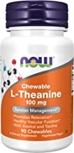 NOW Supplements, L-Theanine 100 mg with Inositol and Taurine, Tension Management*, 90 Chewables