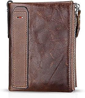 FANDARE Portafoglio Uomo protezione anti-RFID Donna Portafogli Pelle, Portafoglio Pieghevole, con porta carte di credito, ...