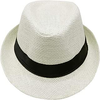 DOSOMI Women Men Casual Cowboy Fedora hat Unisex Fashion Summer ...