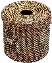 Kouboo 1030028 - Funda para Papel higiénico y dispensador de pañuelos, 14 x 14 x 13 cm, Color café