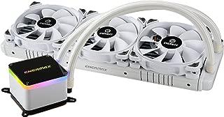 Enermax LIQTECH II 360 Addressable RGB All-in-one CPU Liquid Cooler Dual Chamber Intel/AMD Support AIO ARGB LED Cooling 500+ TDP White (ELC-LTTO360-TBP-W)