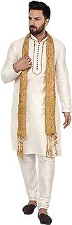 SKAVIJ Men's Tunic Ethnic Wear Kurta Pajama and Scarf Set
