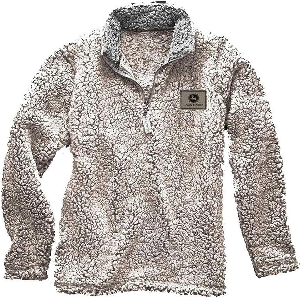 John Deere Western Jacket Adult Waist Vents Logo 1/4 Zip 14611878