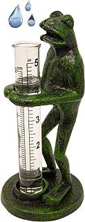 EliteKoopers Cast Iron and Glass Garden Rain Gauge For Measuring