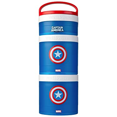 Whiskware Marvel Stackable Snack Pack, Captain America