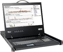 Tripp Lite B040-008-19 8 Port VGA KVM Console w 19in LCD Monitor Keyboard Touchpad