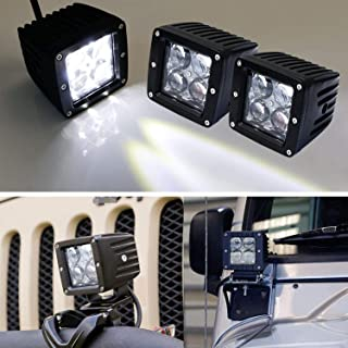 iJDMTOY (2) 20W High Power CREE 4D Optic 3-Inch Cubic LED Pod Lights For Truck Jeep Off-Road ATV 4WD 4x4, etc, Universal Fit