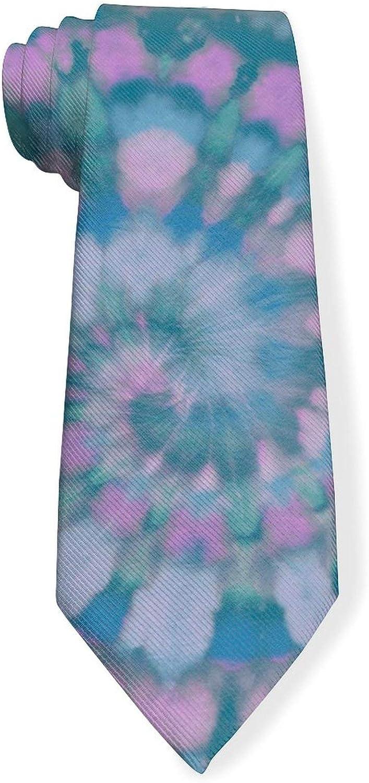 Vintage Tye Die Swirl Mens Classic Color Slim Tie, Men's Neckties, Fashion Boys Cravats
