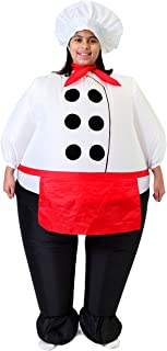 Inflatable Costume Air Blow-up Deluxe Chief Cook Costume - Child Size Fits 7-11yr (48