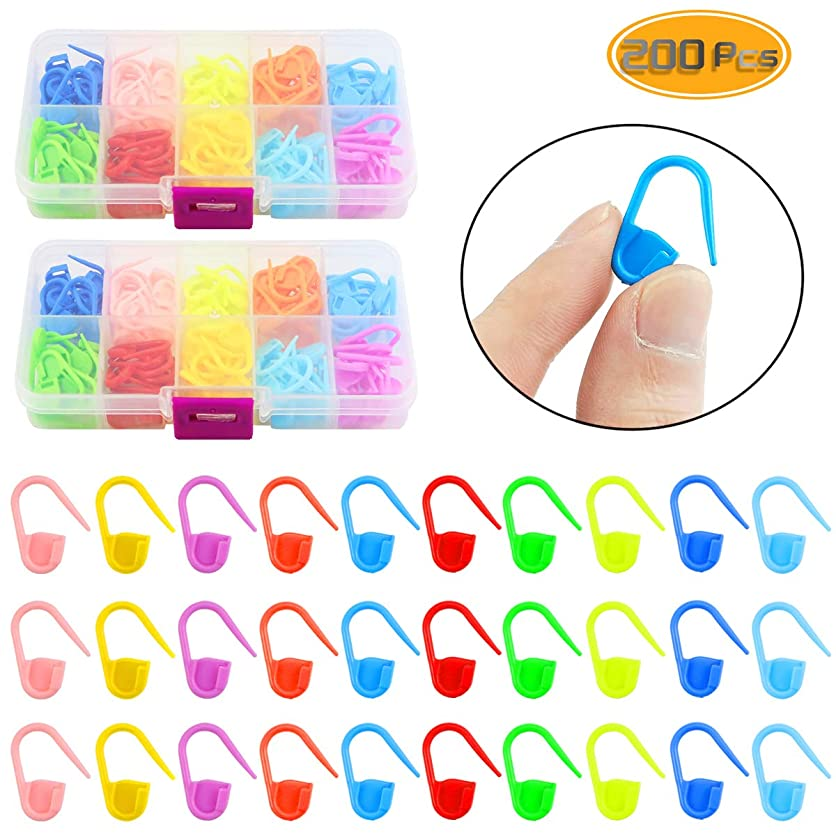 Oruuum 200Pcs Color Small Plastic Pin for Mark Small Anti-Defense Buckle Mark Pin Buckle Sweater Counter Safety Pin for Student ghou74594
