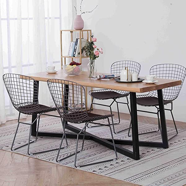 Simhoo Metal Wire Dining Chair Accent Chair Side Chairs For Home Kitchen Living Room Dining Room Restaurant Office Set Of 4