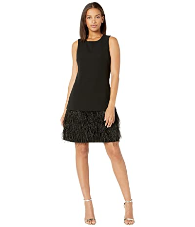 Sam Edelman Feather Hem Dress (Black) Women