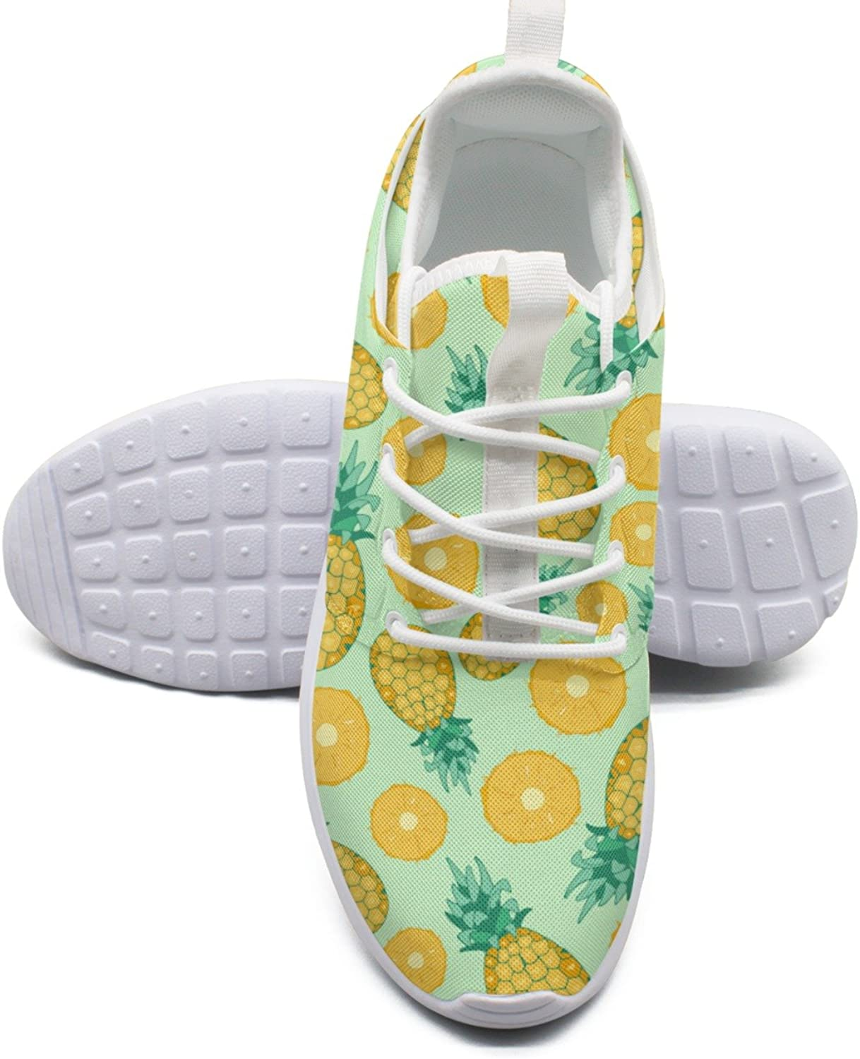 Fruits In Flat Style Cartoon Fresh Pineapple Youth Running shoes Girls size 10