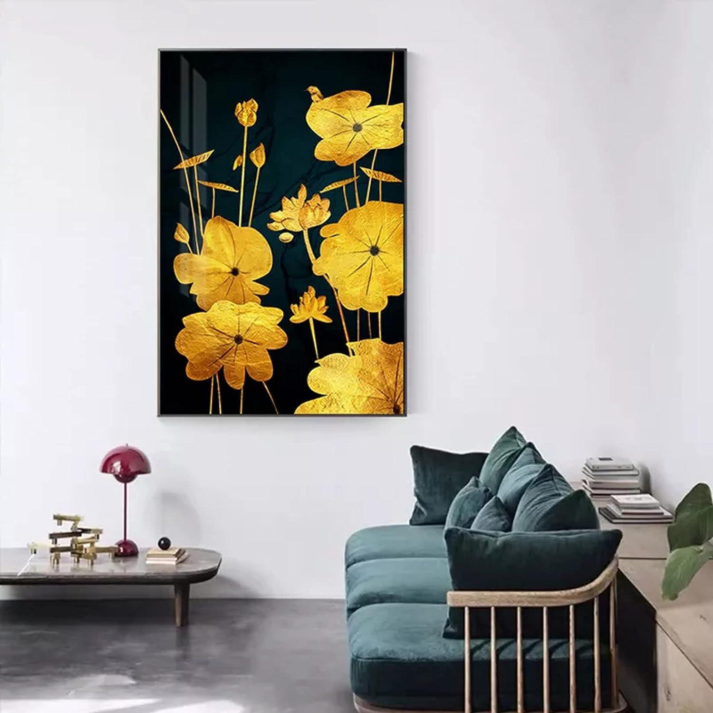 Home Decoration Painting Abstract Leaf Lotus Canvas Washington Genuine Mall Pos
