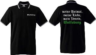 world-of-shirt / Wolfsburg Herren Polo-Retro Meine Heimat, Mein Verein