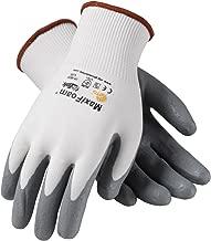 PIP 34-800/L G-Tek Maxifoam Gray Nitrile Coated Palm/Finger Gl (1 Dozen)