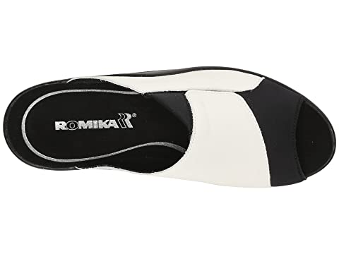 Nudediamante Romika Mokassetta Métallique Sombre Blanc Noir Plissé Bozen 244 Platine r4frUYx