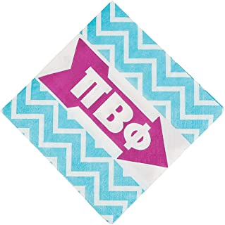 Fun Express - Pi Beta Phi Beverage Napkins (50pc) - Party Supplies - Licensed Tableware - Licensed Napkins - 50 Pieces