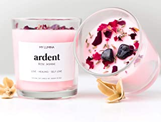 My Lumina Ardent Love Pink Candle - Romantic Sweet Love Candle Natural Soy Wax - Rose and Jasmine Natural Scented Purifyin...