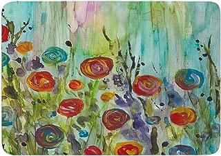 Rosie Brown Klimt Inspired Memory Foam Bath Mat Blue Single Piece