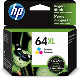 HP 64XL | Ink Cartridge | Works with HP ENVY Photo 6200 Series, 7100 Series, 7800 Series, HP Tango and HP Tango X | Tri-Co...