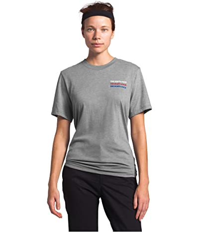 The North Face Freedom Short Sleeve Tee (TNF Medium Grey Heather) Women