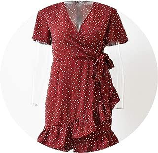 dot Print Women Summer Dress Short Party Elegant Dress
