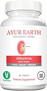 Mitastone - Kidney Support Supplement - Natural Kidney Cleanse for Healthy Kidneys - UTI/Urinary Tract Infection & Kidney Stone Prevention Pills - Ayurvedic Kidney Detox - 30 Day Supply (60 Capsules)