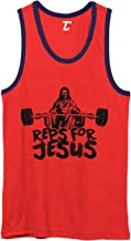 Reps for Jesus - Gym Workout Bodybuilder Unisex 2-Tone Tank Top