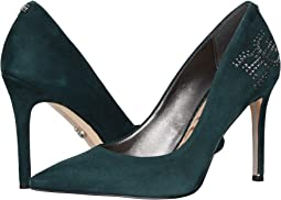 Jasmine Green Kid Suede Leather