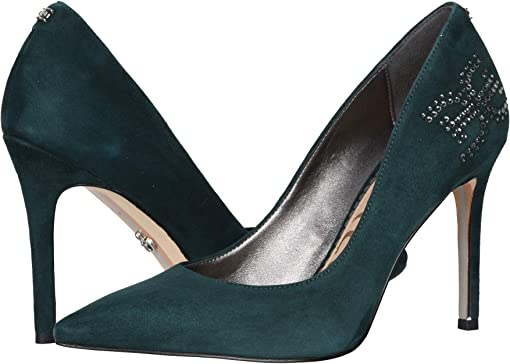Jasmine Green Suede Leather