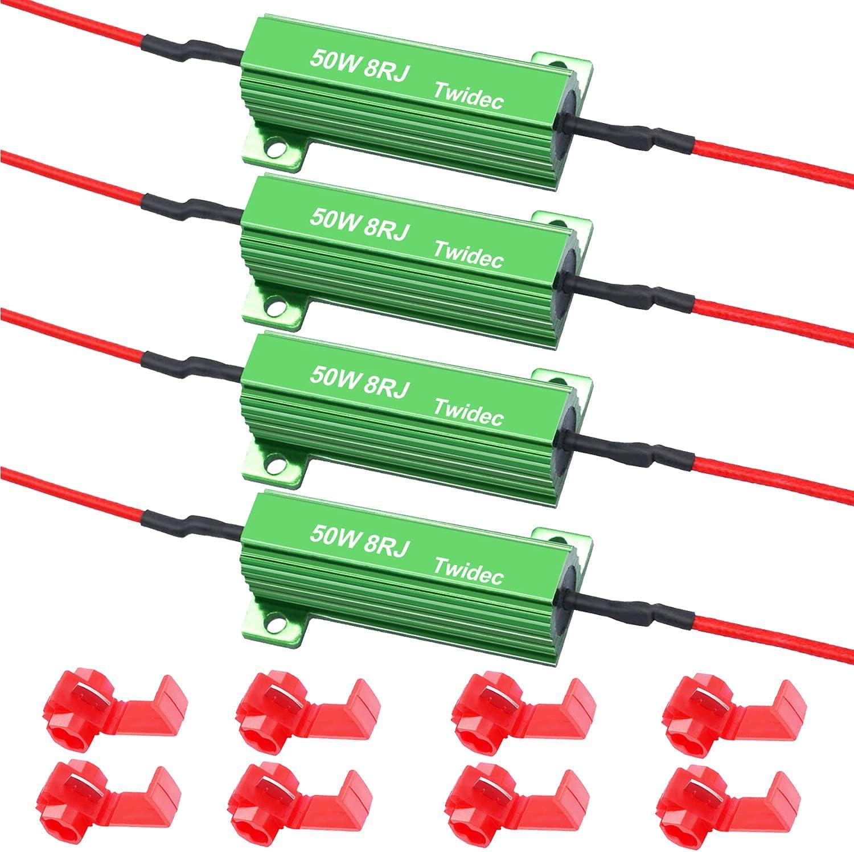 Twidec 4Pcs 50W 8Ohm LED Load Max 68% OFF Fix For Flash Hyper Max 84% OFF Resistors