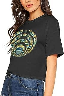 Womens Crop Tops Women's Bassnectar Tshirts Black