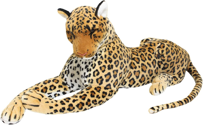 BRUBAKER plush leopard stuffed animal 110 cm