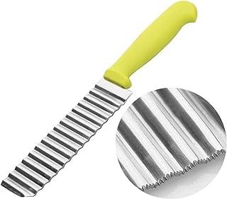 Cuchillo de patata con forma de onda, cortador de patata, cortador de patatas francesas, de acero inoxidable, multifuncional, para frutas y verduras, accesorios de ensalada