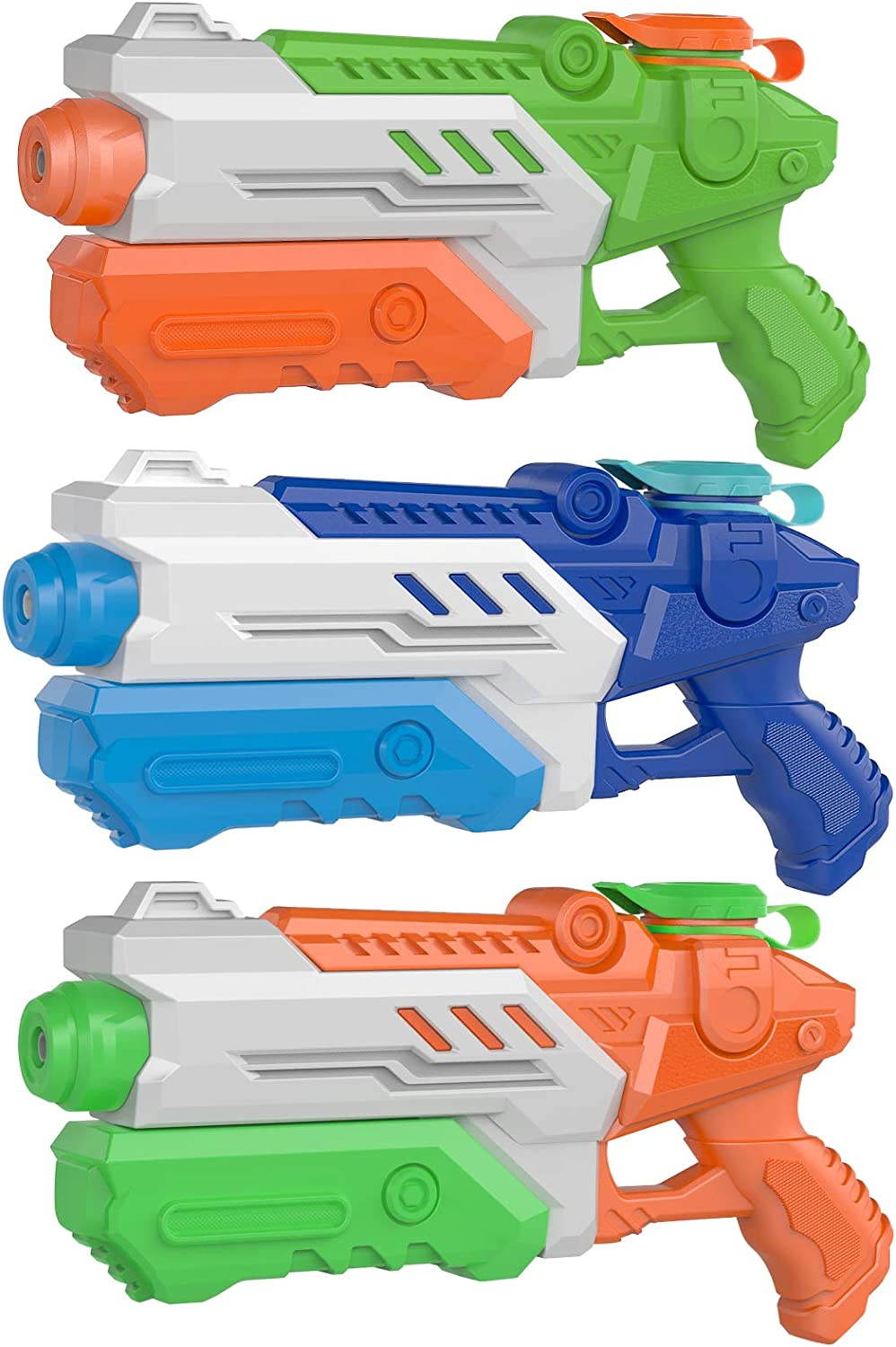 3 Packs Water Guns for Kids Adults Summer Super Fighting Soaker Blaster Swimming Pool Beach Sand Outdoor Play Squirt Water Toys Party Favors: Toys & Games