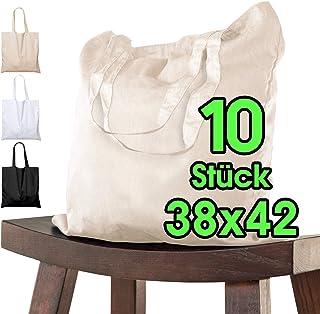 ELES VIDA Bolsa de algodón para pintar 38x42 - 10 o 25 piezas en diferentes colores - sin imprimir certificado OEKO-TEX® -...