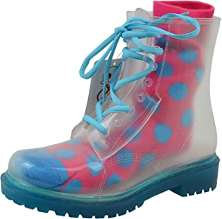 Jelly Jolly London Boots and Sock Bundle Blue Sole - Transparent Boots