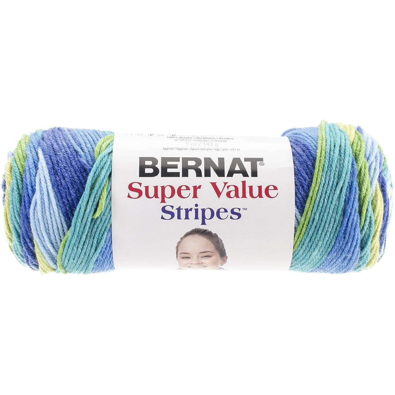 Bernat Super Value Yarn - 4 Medium Worsted Gauge 100% Acrylic - 5oz  -   Meadow  -  Machine Wash & Dry