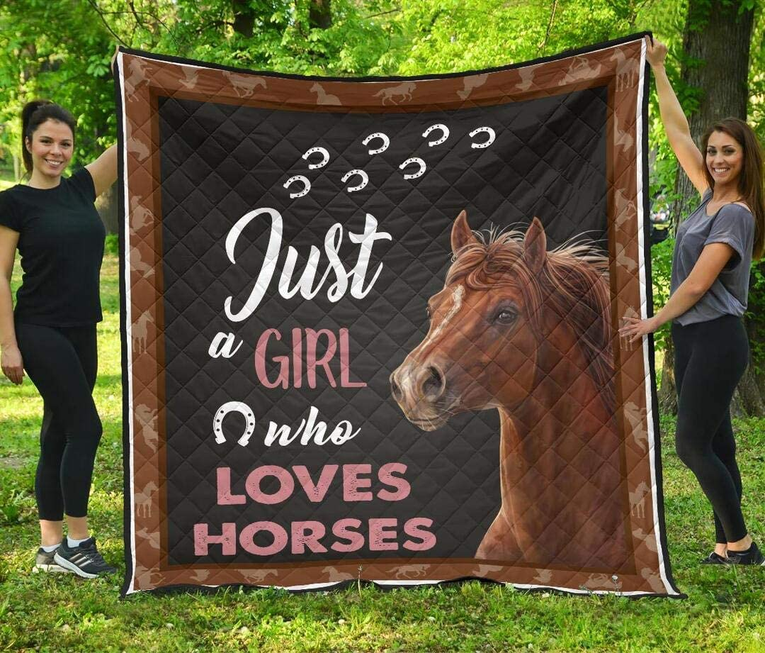 Personalized Horse Quilt Brand Cheap Sale Venue Gift for Your Mom Lovers Dad My Wif to New item