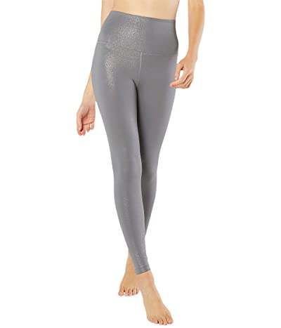 Beyond Yoga Twinkle High Waisted Midi Leggings (Stone Gray Gunmetal Twinkle) Women