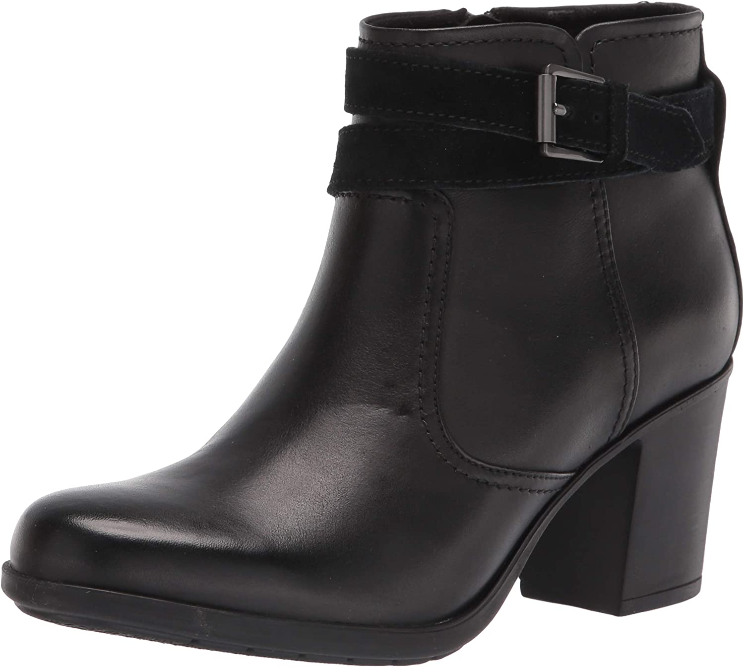Clarks Women's Diane Peake Ankle Daily bargain sale Black Max 59% OFF Boot Leather Suede Combi